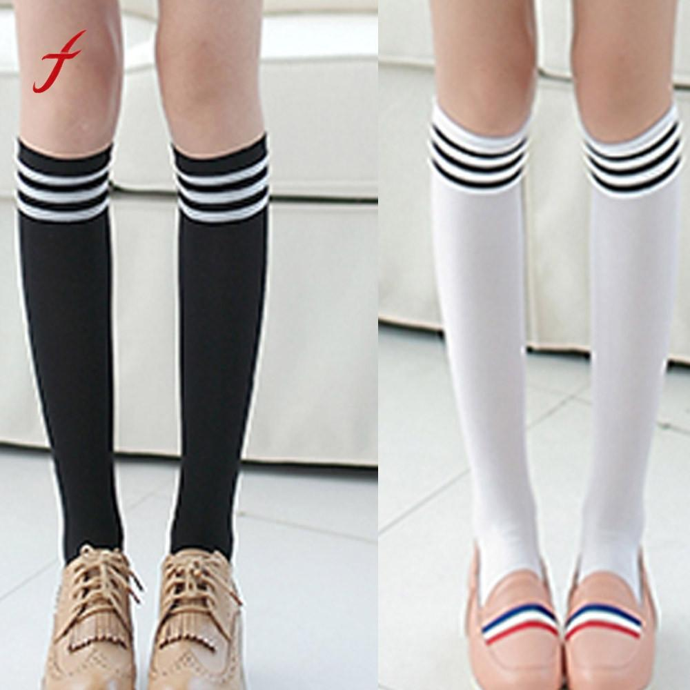 a66379f5a 2019 2017 New Knee High Long Socks Fashion Women Over The Knee Sock Thigh Stockings  Thick Lovely Girls Princess Long Socks From Moussy