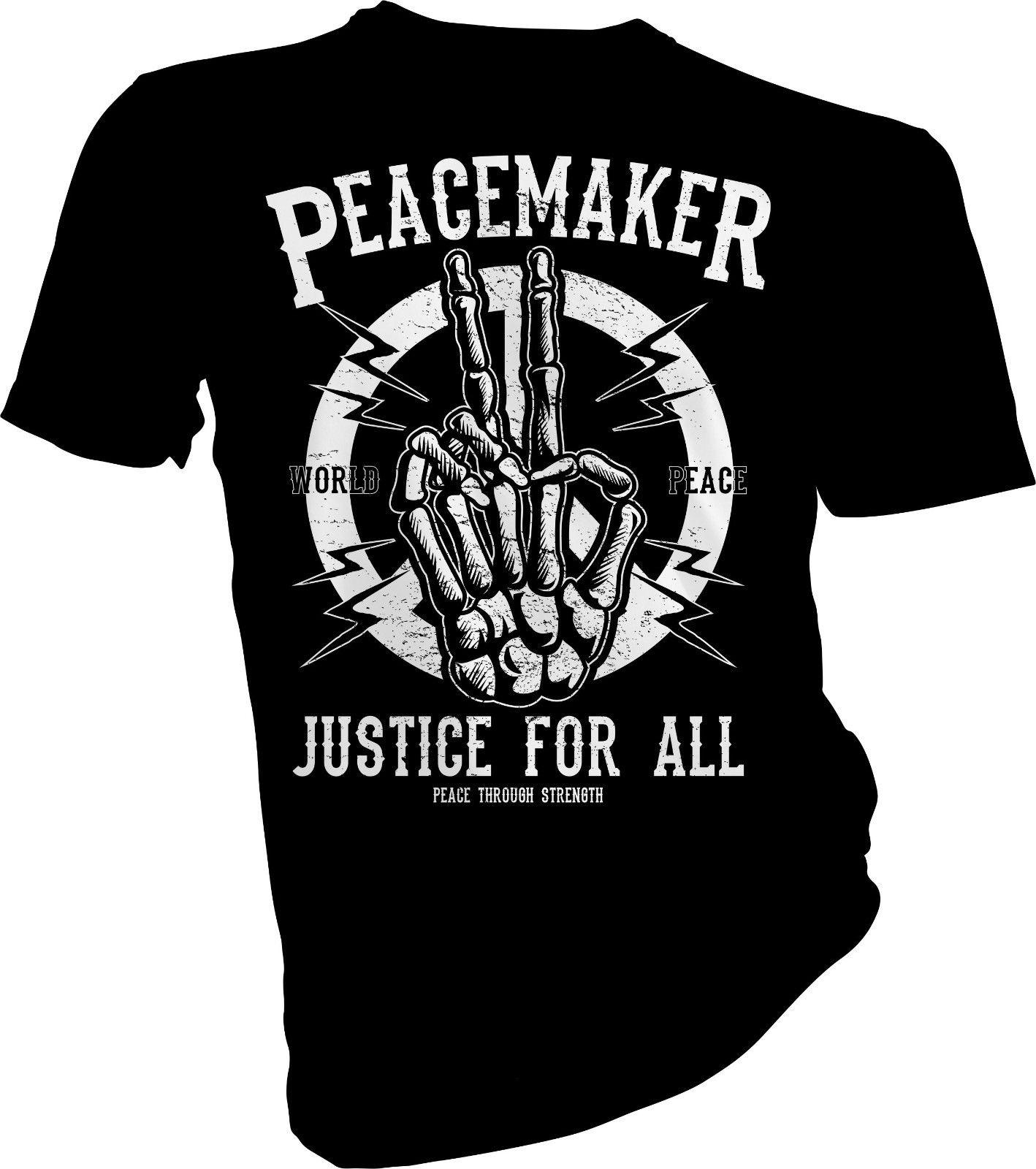 Peace Maker Justice Pour Tous, No War, No Nukes, Anti Adulte Enfants T-Shirt100% coton tee shirt2018 fashion t shirttops