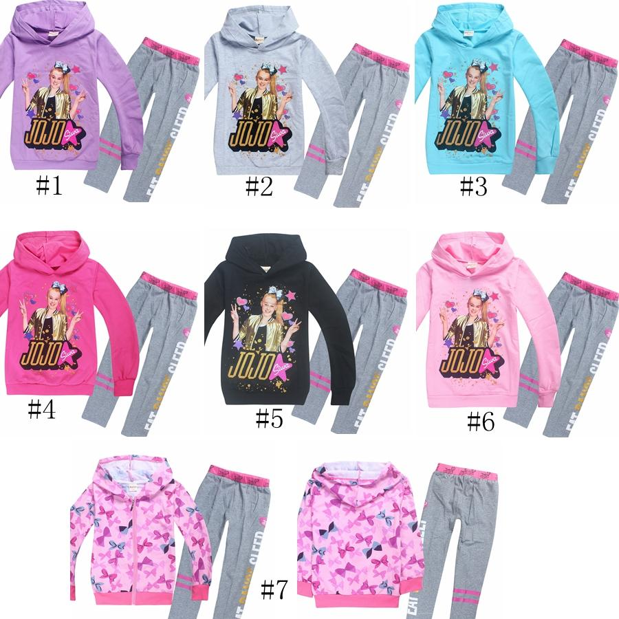 bc60d7d9a 7styles JOJO Siwa Hoodies Clothing Sets kids Children tracksuits Girls  Sweatshirt Pants baby Sport Suits 2pc set GGA1190