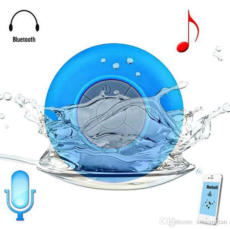 Portable Subwoofer Shower Waterproof Wireless Bluetooth Speaker Car Handsfree Receive Call Music Suction Phone Mic For iPhone free shippi