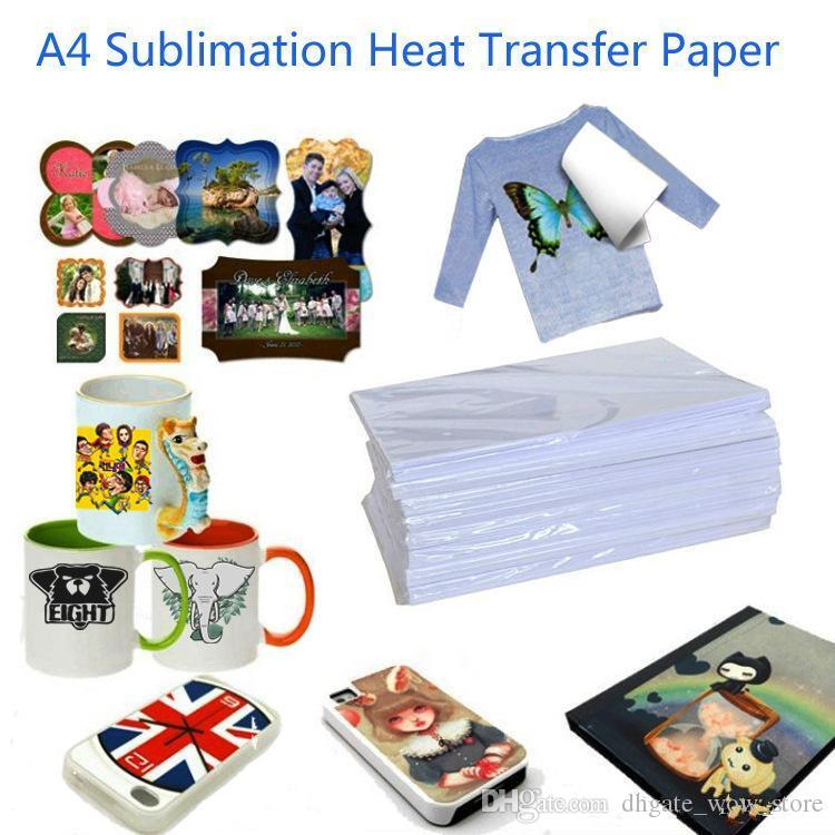 A4 100 Sheets Heat transfer Paper Sublimation paper is suitable for  Polyester t-shirt Hot map Hot drawing Cup Mouse pad etc