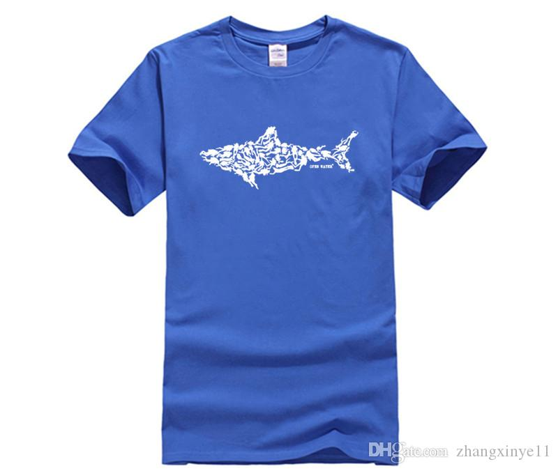 DIY Print T Shirt Shark Scuba Diver Tee Divinger Dive Funny Birthday Gift Present For Him Men Adult Shart Fun Shirts From Zhangxinye11