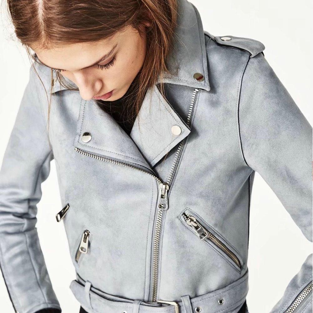 Veste en cuir femme epaulette – Vestes élégantes populaires