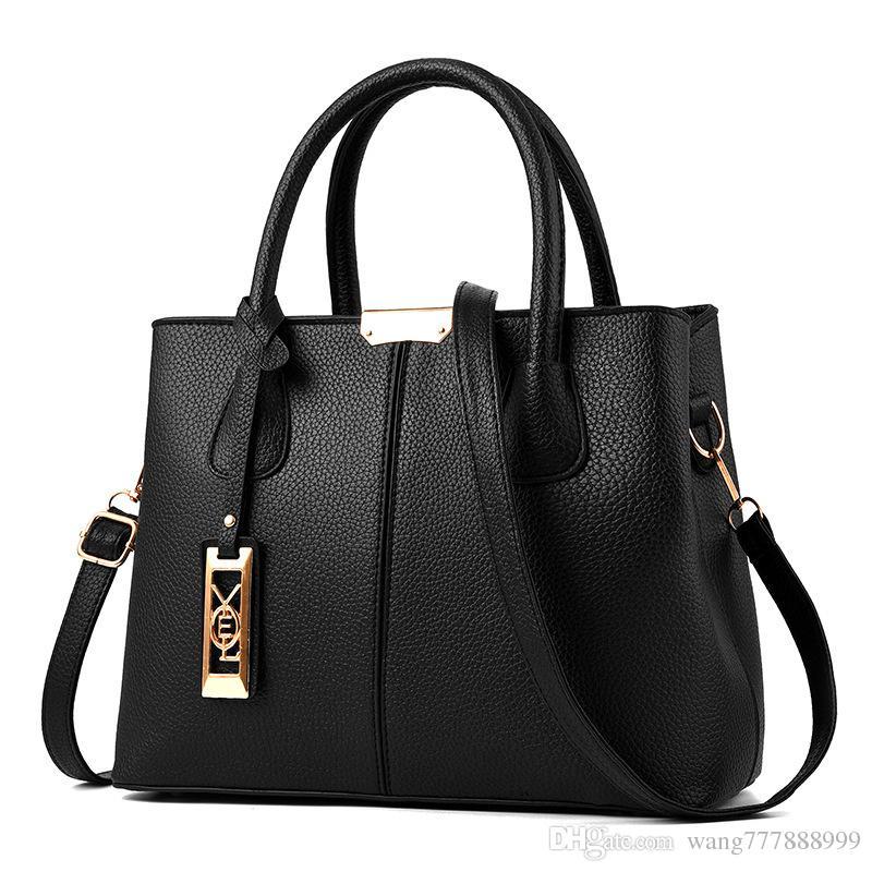 2018 Latest Fashion Women Luxury Bags Lady PU Leather Handbags Brand Bags  Purse Shoulder Tote Bag Female Ladies Purses Fashion Bags From  Wang777888999 a183cb385aaf3