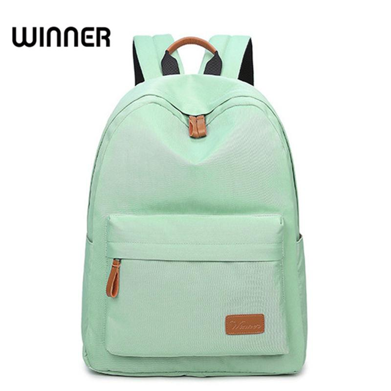Casual Solid Canvas Women Backpack School Bag Large Capacity Simple
