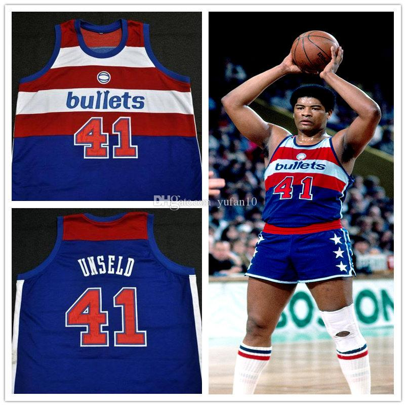 6ac2eaa9854 ... canada 2018 41 wes unseld washington bullets retro classic basketball  jersey mens embroidery stitched custom any