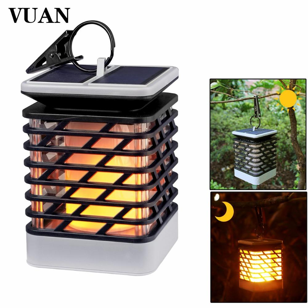LED Solar Powered Torch Lights Flickering Waterproof Hanging Decorative Lighting for Pathway Garden Deck Christmas Party