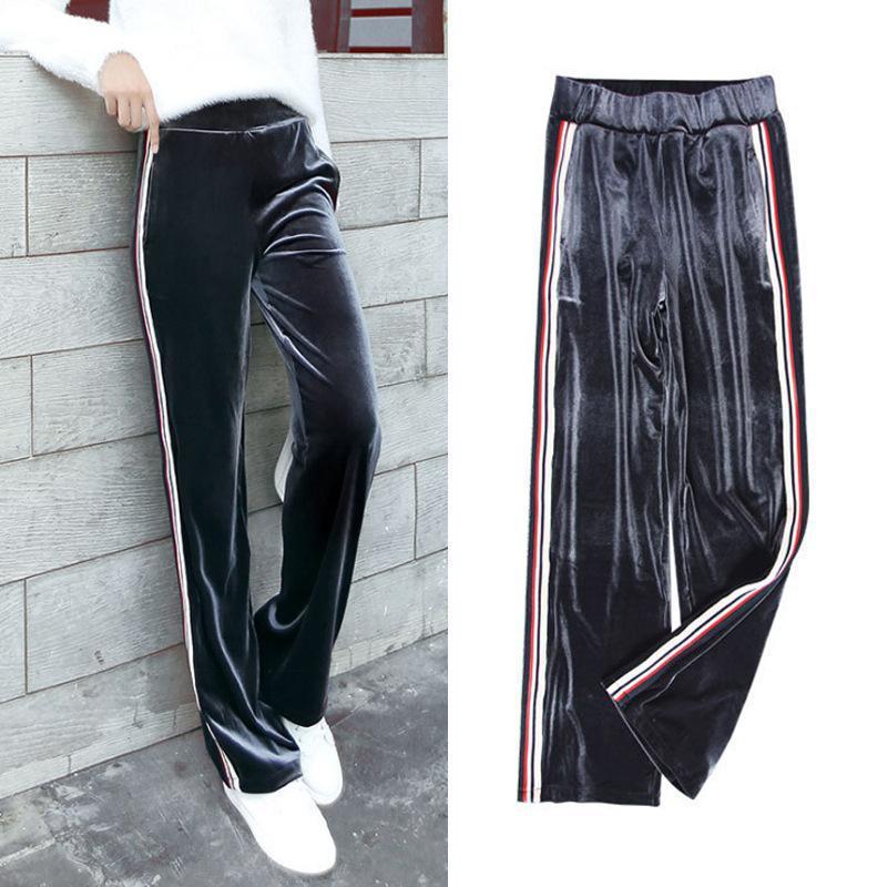 8c943bafbc2 Pleuche Sport Joggers Pant Loose Long Pant Plus Size Women Clothes ...