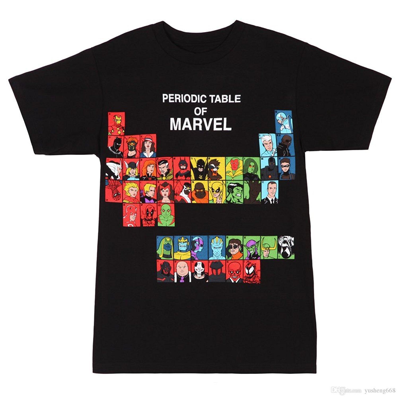 Marvel Periodic Table T Shirt 4x Large Custom Shirt Fashion T Shirt