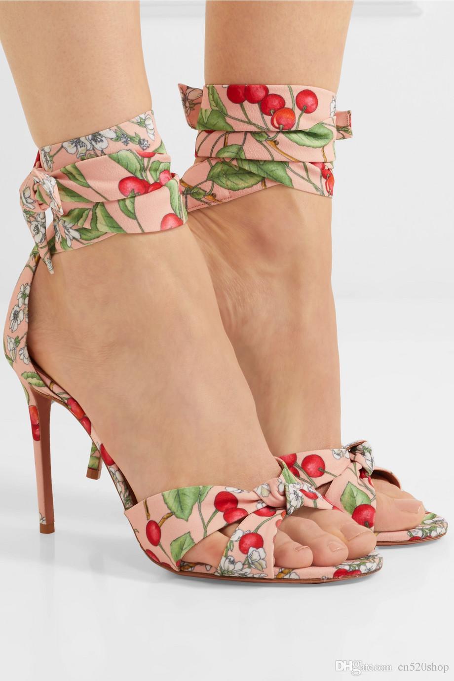 Donna High Heels Party Sandalos Princess Style Flower Summer Evening Party Heels ... 1aeb3e