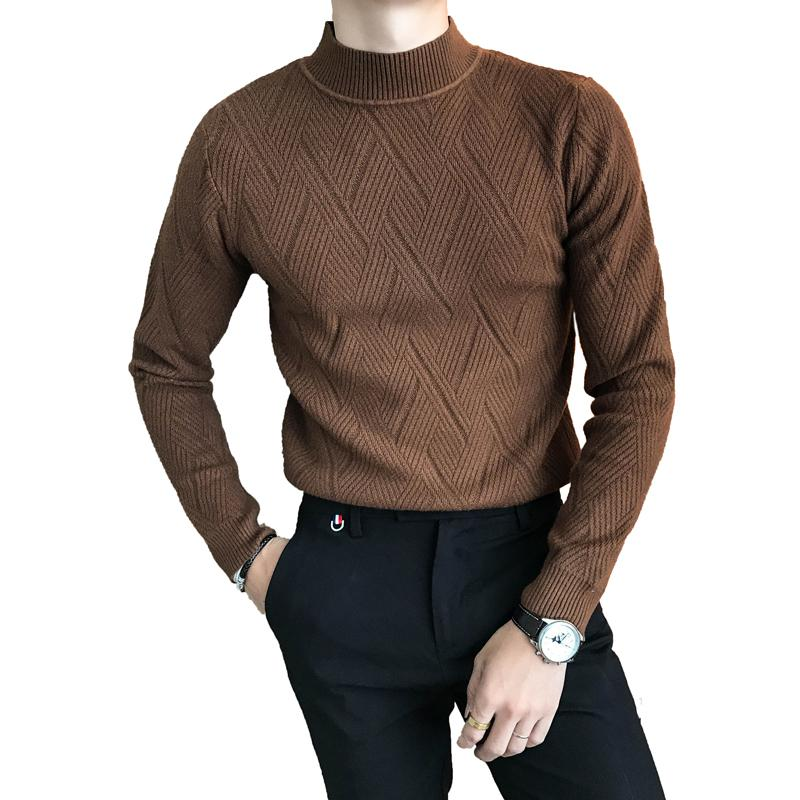 d783b0f120a6 2019 Loldeal Men'S Long Sleeve Crew Neck Pullover Knit Sweater High Quality  Autumn Sweater Slim Fit Geometric Pattern Pullover From Wochanmei, ...