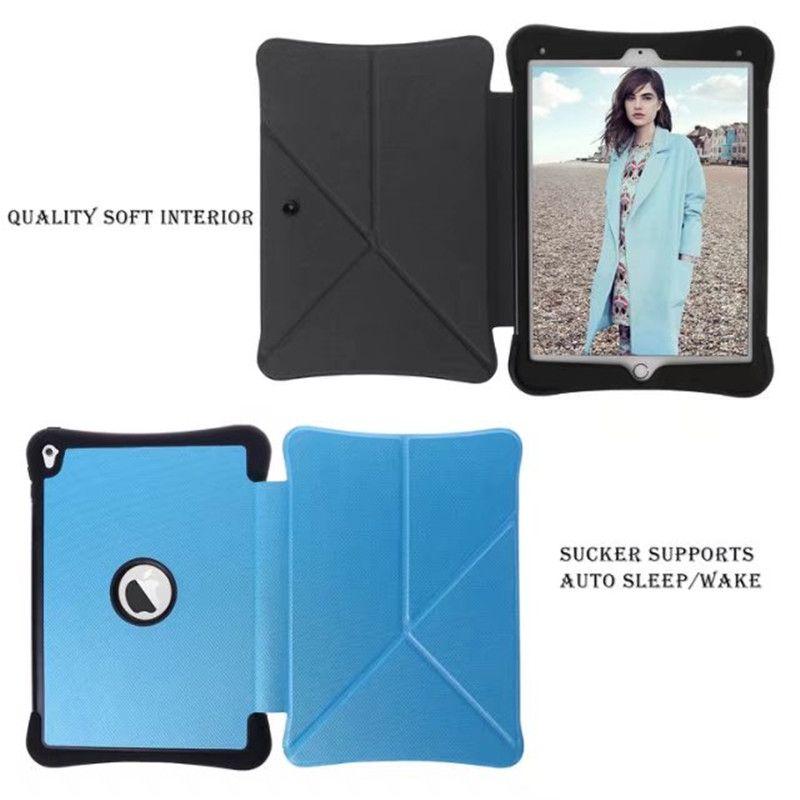 Ultra Ince Elmas Tahıl Transformers Manyetik Akıllı Uyku Wake Flip Standı PU Deri Kapak Kılıf ipad hava 2 6 Tablet