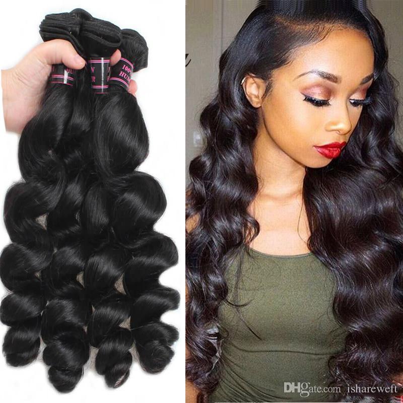 7a Brazilian Hair Bundles Loose Wave 16 26 Inch Hair Weaves Natural
