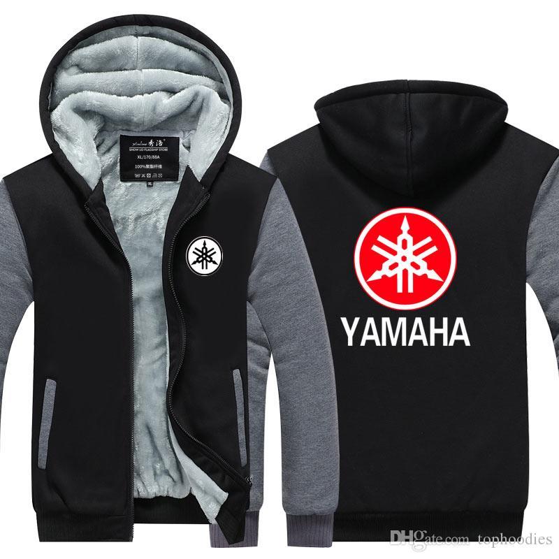 2019 YAMAHA MOTOR Logo Winter Cashmere Hoodie Zipper Jacket Leisure Sweatshirts Thicken Cardigan Coat Long Sleeve Tracksuit Pullovers Tops From Tophoodies, ...