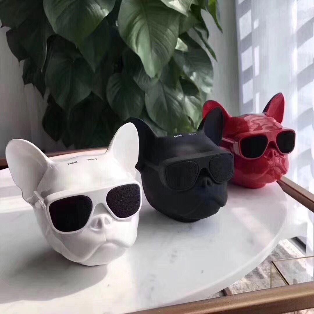 Mode privé tête de chien Bluetooth haut-parleur carte radio Audio Ordinateur portable Subwoofer chien année cadeau