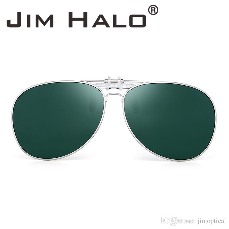 f043fcc55c6 Jim Halo Retro Polarized Sunglasses Clip On Flip Up Lenses Driving  Eyeglasses Men Sun Glasses Lens Mens Sunglasses Police Sunglasses From  Jimoptical