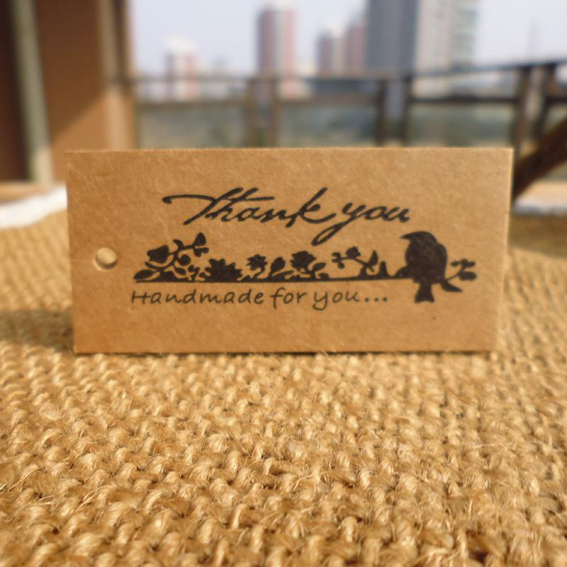 50 vintage bird thank you hand tag gift box bake gift decoration label card 50 vintage bird thank you hand tag gift box bake gift decoration label card online with 006piece on solarlampls store dhgate negle Images