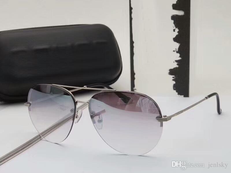 Spl De Boîte Grey Nouveau Avec Lunettes Lens Pour Luxe 461 Designer Mirror Pilot Eyewear Soleil Silver Homme jR4AL5