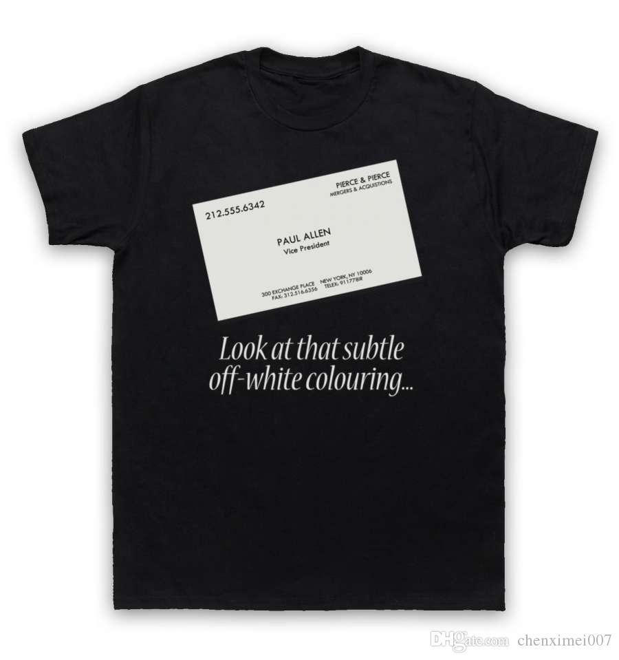 Acheter American Psycho T Shirt Carte De Visite 1207 Du Chenximei007
