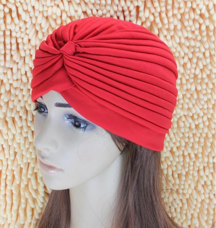 Unisex India Cap Women Turban Headwrap Hat Skullies Beanies Men Bandana Ears Protector Hair Accessories