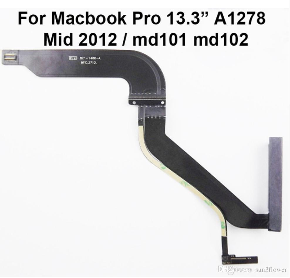 "HDD Hard Disk Drive Flex Cable 821-1480-A for MacBook for Mac Pro 13"" A1278 MD101 MD102 2012 2013 923-0741 923-0104"