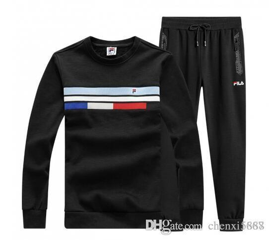 FILA verdicken Trainingsanzug Beste Version Mens Designer Trainingsanzüge Print Reißverschluss Anzug Tops + Hosen Mens Casual Sweatshirt