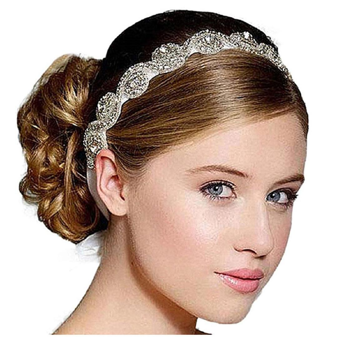 Bridal Wedding Beads Diamond Headbands Hair Accessory Clips Silver Color  Prom Hair Accessories Pearl Hair Accessories From Hilarye 2d354bf3e73