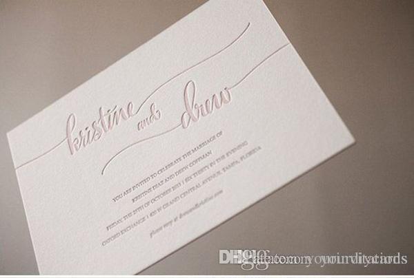 Letterpress Wedding Invitations.Gorgeous Letterpress Wedding Invitation Free Shipping Wedding Invitation Letterpress Wedding Invitation Elegant Custom Design In 2016