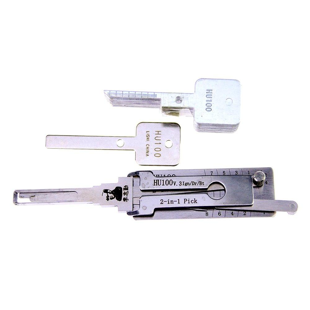 Genuine LISHI Lishi HU100 2 In 1 lock pick and decoder FOR NEW OPEL