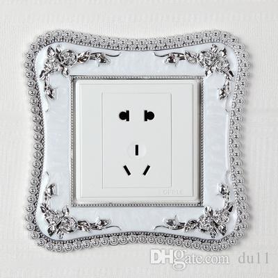 maske Heimtextilien handwerk Kreative Europäische acryl Schalter pflaster buchse stecker wandpaste harz schalter