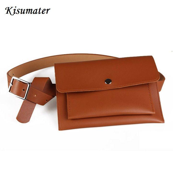 2e26fddbc7f Kisumater 2018 New Leather Waist Bag Women S Fanny Packs Femal Belt Wallet  Casual Waist Pack Belt Bag Designer S Shoe Bags Cute Fanny Packs From  Yigu009