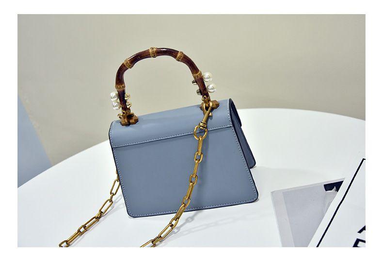 2018 Luxus Handtaschen Frauen Taschen Designer Broche Bambus Griff Tasche Frauen Echtes Leder Handtaschen Perle Fuchs Kopf Handtasche 20x15x8.5cm 0.7kg