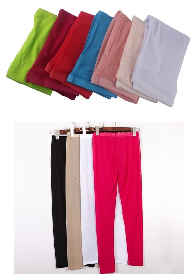 Şeker Renkli Tayt Wome Yeni Yaz Parlak Yüksek Streç Pantolon Ince Siyah Kırmızı Spor Egzersiz Legging T2I288