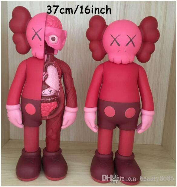 2019 2018 New 37cm 16inch Red Kaws Dissected Companion Action