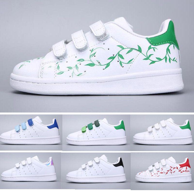 e98f52bb5 Compre Adidas Stan Smith Superstar Niños Zapatillas De Skate Zapatos De  Bebé Para Niños Superstars Sneakers Originals Super Star Girls Boys Zapatos De  Niños ...