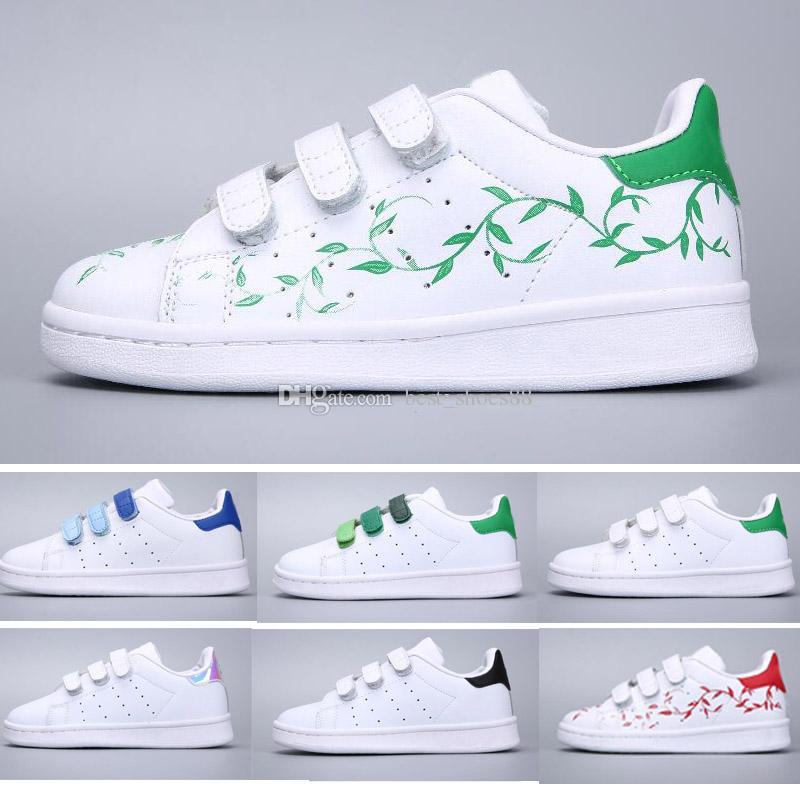 sports shoes e5824 33153 Acquista Adidas Stan Smith Superstar Scarpe Da Skateboard Bambini Scarpe Da Bambino  Bambini Sneakers Superstars Originals Super Star Girls Boys Calzature ...