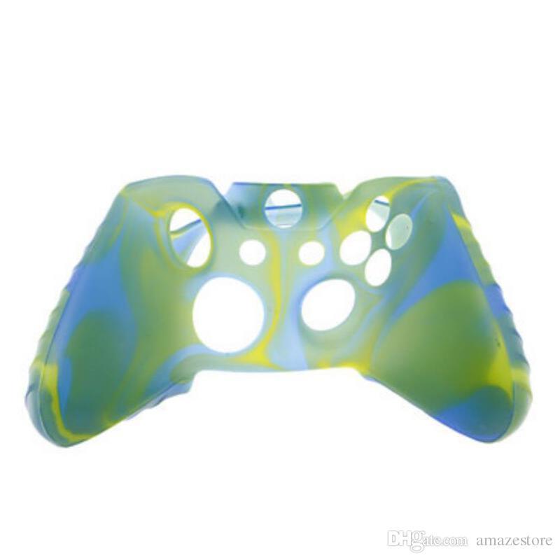 Custodia in gomma la pelle in gomma frittura flessibile morbida in silicone Xbox One Slim Controller Grip Covers Cases