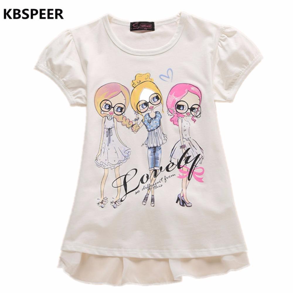 cf7336f6e25 Acheter 2017 Nouvelle Marque Filles T Shirt À Manches Courtes Top Été Bébé  Fille T Shirt T Shirts Enfants Enfants Vêtements Garcon De  25.76 Du  Okbrand ...