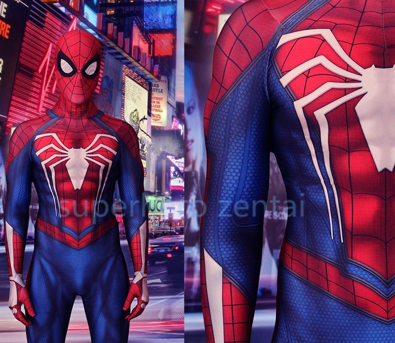 Compre Newset Spandex Ps4 Insomne traje De Spiderman Cosplay Catsuit Traje  De Superhéroe Zentai De Halloween Para Adulto   Niños   Personalizado    Venta ... 59609b1d39c7