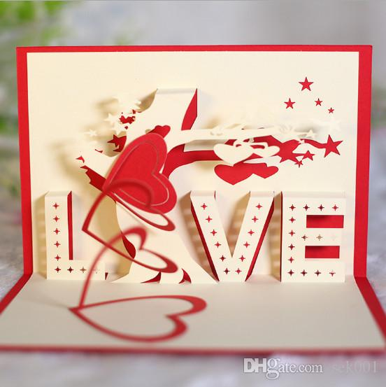 Love tree 3d pop up handmade greeting cards for valentines day love tree 3d pop up handmade greeting cards for valentines day birthday christmas party children kids gift musical greeting cards online birthday card from m4hsunfo