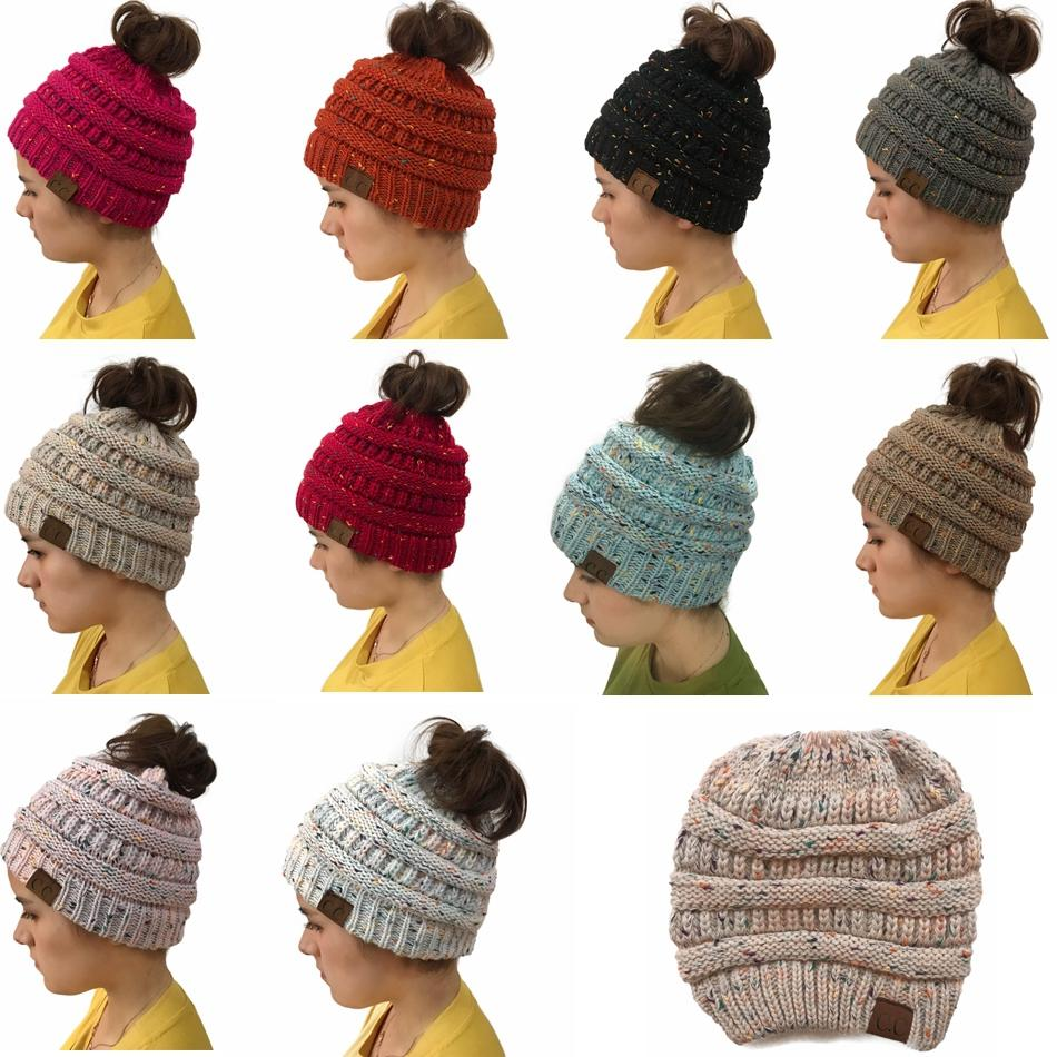 f063593b5ab Cc Beanie Hat Women Crochet Knit Cap Winter Skullies Beanies Warm Caps  Female Knitted Hats For Ladies Winter Ponytail Hat Gga799 Party Hat Cut Out  Party Hat ...