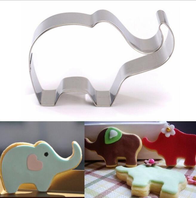 Pequeno Elefante Pássaro Dos Desenhos Animados Da Menina Do Partido Molde Do Biscoito De Metal Patisserie Bolo Gateau Pastelaria Ferramentas De Cozimento Cupcake Toppers
