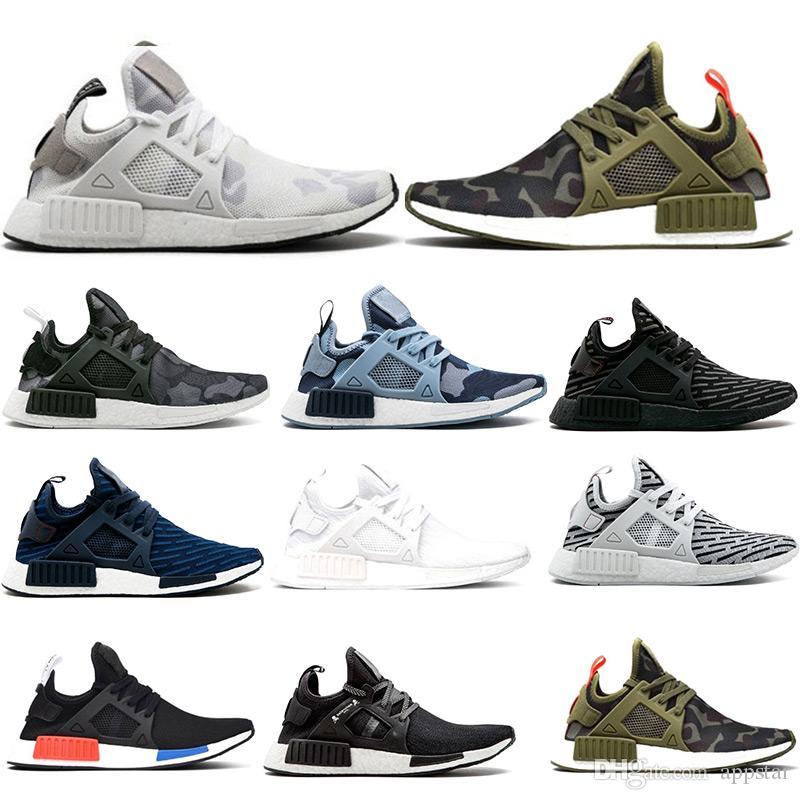 813f24b01f35f Wholesale NMD XR1 Running Shoes OG Zebra Mastermind Japan Stripe Black Olive  Green Black White Navy Camo Men Women Sports Shoes 36 45 Canada 2019 From  ...