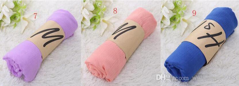 Женщины твердые саронг шарфы пляж простой шелковый шарф хлопок белье солнцезащитный крем Шаль мягкая обертка длинный платок пляжный шарф мода пашмины