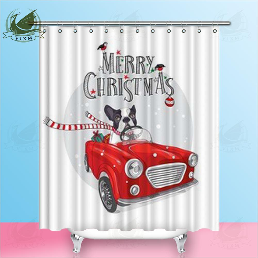 2018 Vixm Christmas Card French Bulldog With Gifts Inside Red Car ...