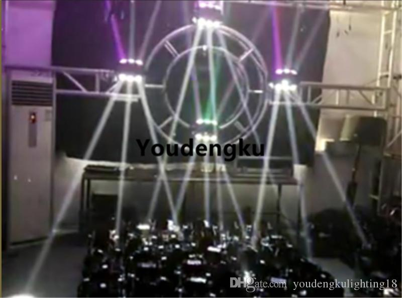 8 adet / grup 360 derece rotasyon ışık 9x10 w led ışın hareketli kafa ışık rgbw 4 in 1 DJ hareketli kafa örümcek ışın ışık