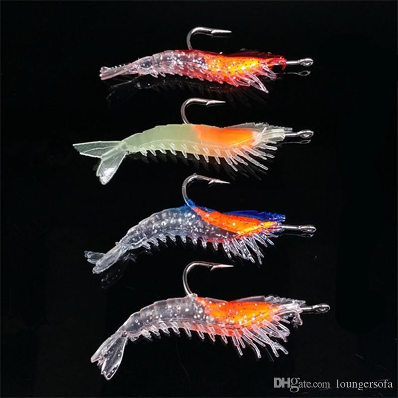 Artificial Baits Bionic Shrimp With Hooks Soft Fake Bait 6CM Silicone Fishing Lures Offshore Angling Accessories Red 1 2jj WW