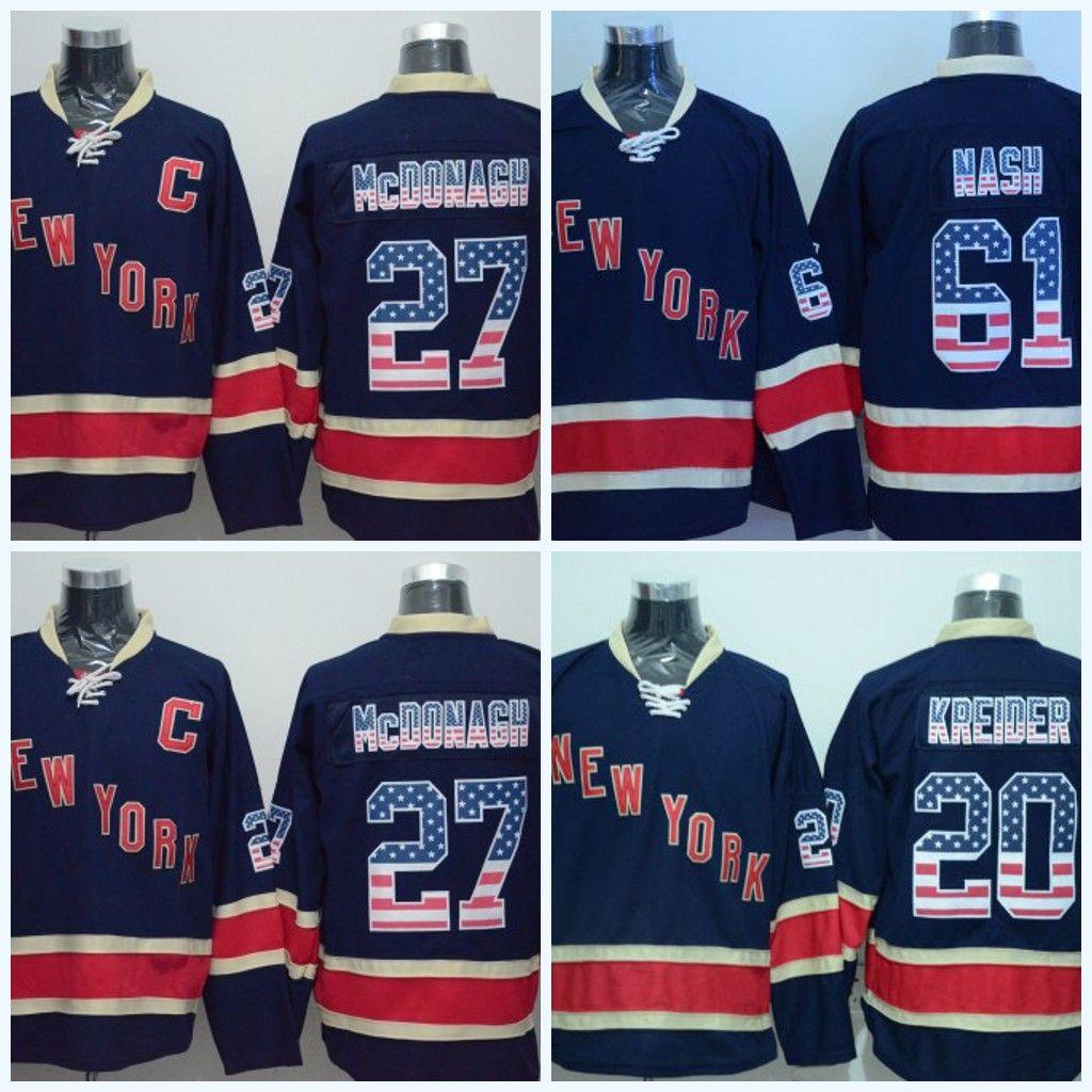 2019 With The American Flag Font 61 Rick Nash 2017 2018 Season 36 Mats  Zuccarello 30 Henrik Lundqvist Jersey Mens New York Rangers Hockey Jerseys  From ... 2236ead2c