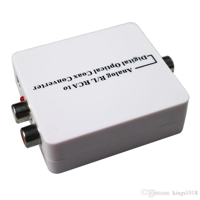 high quality Analog to Digital Audio Converter Adapter From R/L RCA audio to Coaxial or Toslink Optical Coaxial