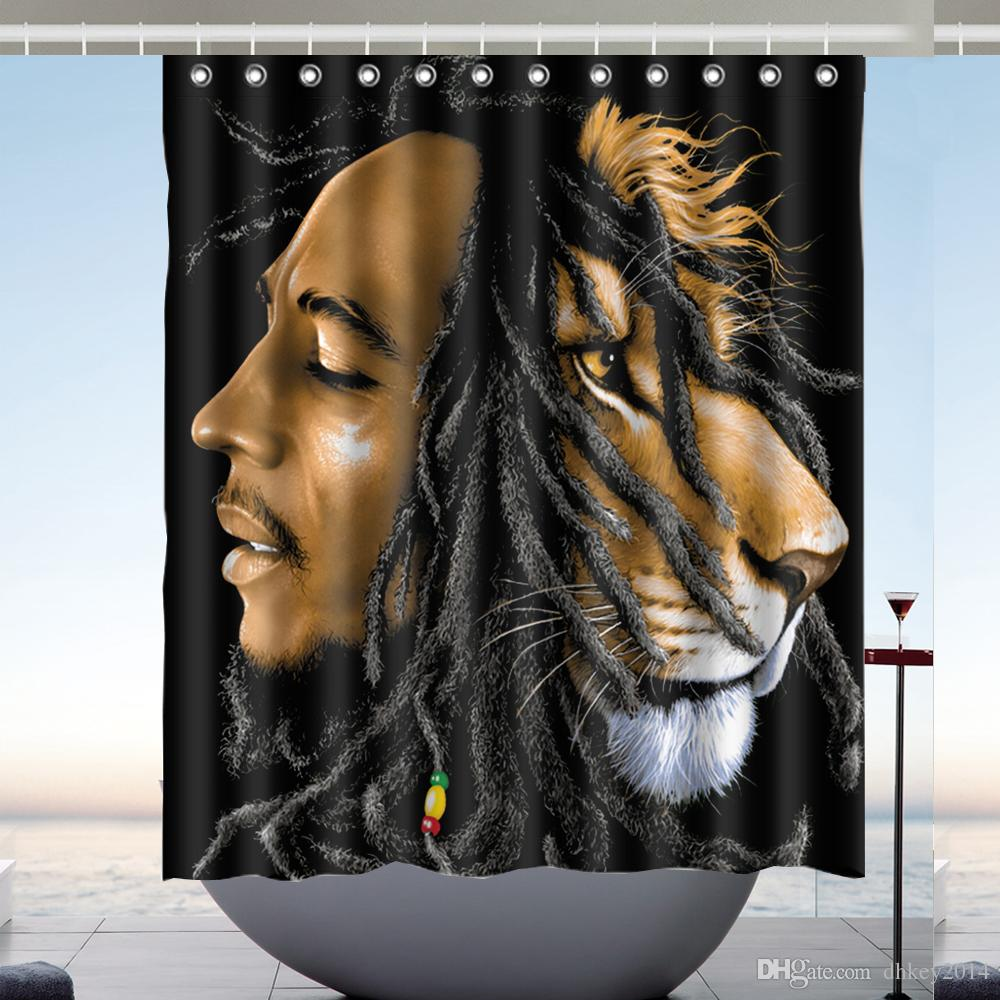 2018 Custom Bob Marley Waterproof Bathroom Shower Curtain Polyester Fabric Size 60 X 72 From Dhkey2014 3517